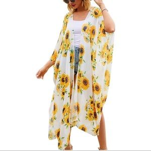 Other - Casual Cover Up Printed Kimono